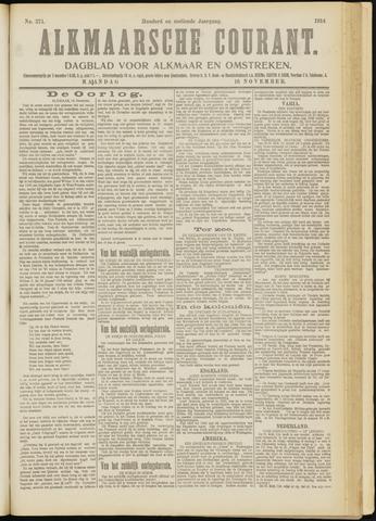 Alkmaarsche Courant 1914-11-16