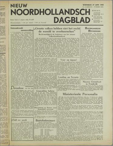 Nieuw Noordhollandsch Dagblad : voor Alkmaar en omgeving 1945-06-27