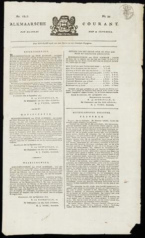 Alkmaarsche Courant 1817-09-29