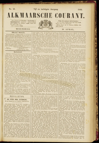 Alkmaarsche Courant 1883-04-18