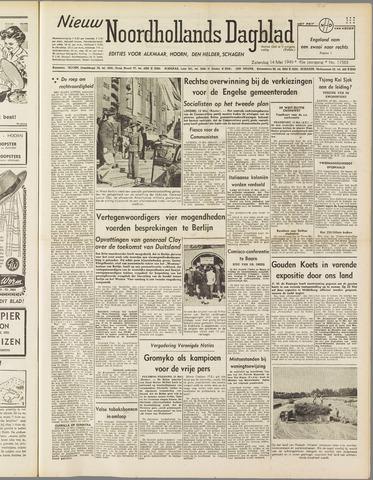 Nieuw Noordhollandsch Dagblad : voor Alkmaar en omgeving 1949-05-14