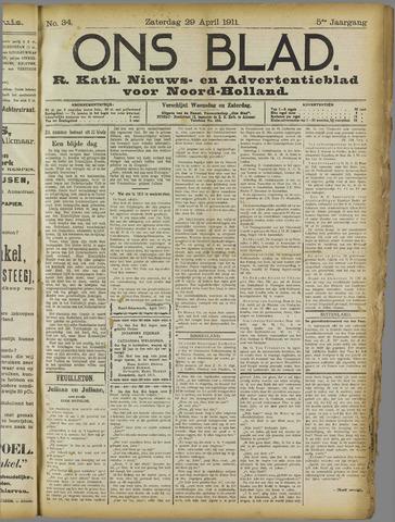 Ons Blad : katholiek nieuwsblad voor N-H 1911-04-29