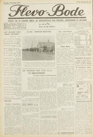 Flevo-bode: nieuwsblad voor Wieringen-Wieringermeer 1949-09-03