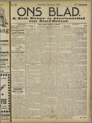 Ons Blad : katholiek nieuwsblad voor N-H 1912-04-20