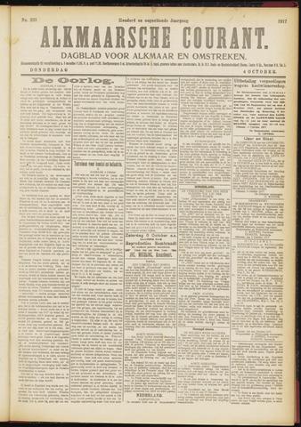 Alkmaarsche Courant 1917-10-04