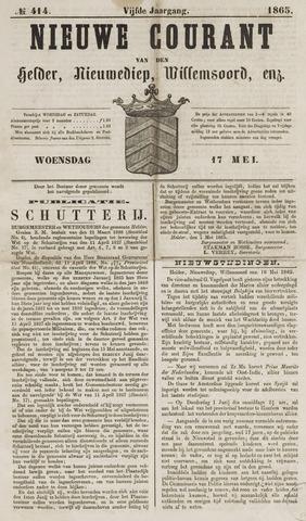 Nieuwe Courant van Den Helder 1865-05-17