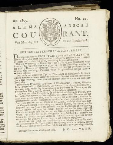 Alkmaarsche Courant 1809-05-22