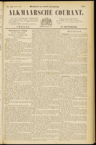 Alkmaarsche Courant 1899-09-29