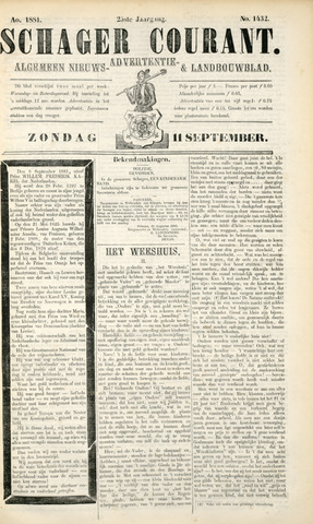Schager Courant 1881-09-11