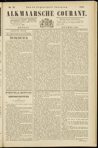 Alkmaarsche Courant 1889-02-24