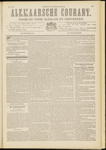 Alkmaarsche Courant 1914-12-24