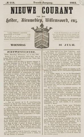 Nieuwe Courant van Den Helder 1862-07-16