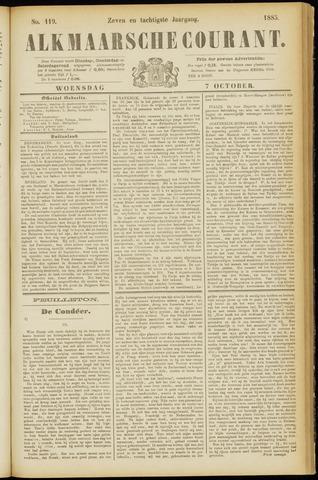 Alkmaarsche Courant 1885-10-07