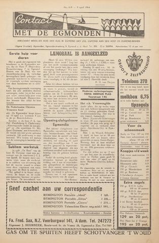 Contact met de Egmonden 1964-04-09