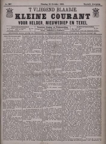 Vliegend blaadje : nieuws- en advertentiebode voor Den Helder 1881-10-25
