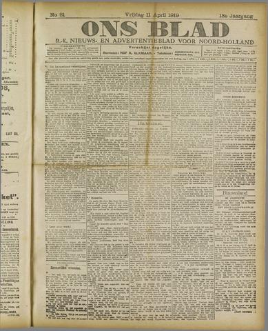 Ons Blad : katholiek nieuwsblad voor N-H 1919-04-11