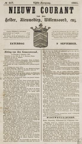 Nieuwe Courant van Den Helder 1865-09-09
