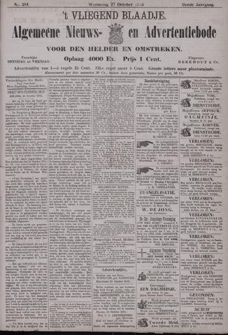 Vliegend blaadje : nieuws- en advertentiebode voor Den Helder 1875-10-27