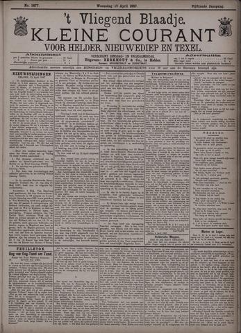 Vliegend blaadje : nieuws- en advertentiebode voor Den Helder 1887-04-13