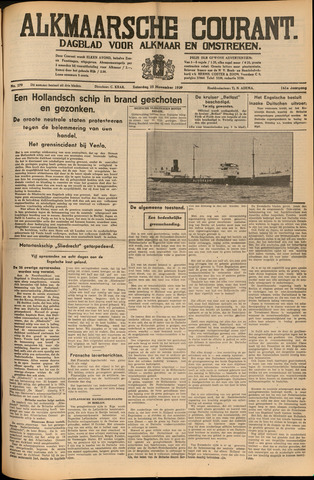 Alkmaarsche Courant 1939-11-25