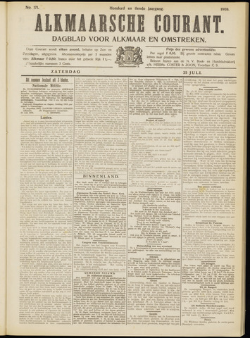 Alkmaarsche Courant 1908-07-25