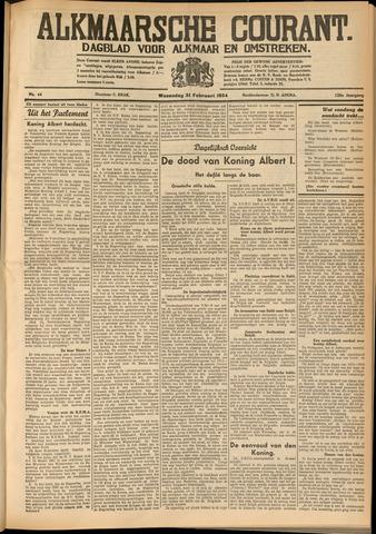 Alkmaarsche Courant 1934-02-21