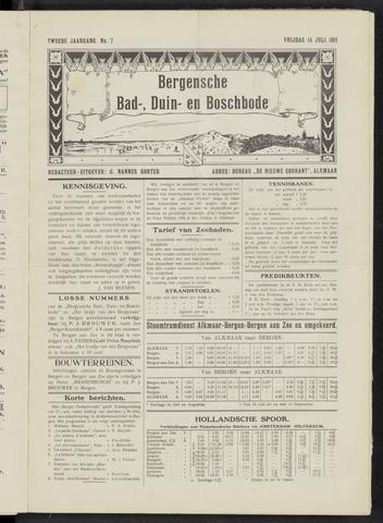 Bergensche bad-, duin- en boschbode 1911-07-14