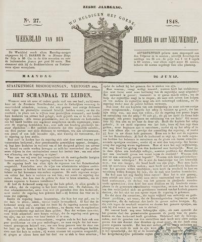 Weekblad van Den Helder en het Nieuwediep 1848-06-26
