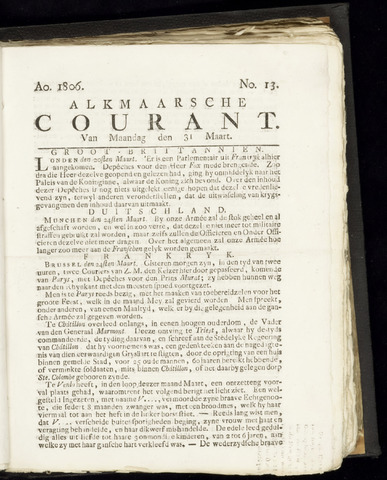 Alkmaarsche Courant 1806-03-31