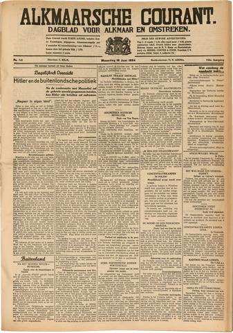 Alkmaarsche Courant 1934-06-18