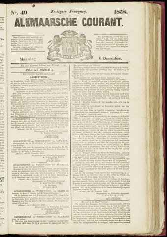 Alkmaarsche Courant 1858-12-06