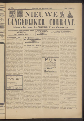 Nieuwe Langedijker Courant 1924-08-23