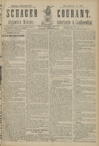 Schager Courant 1911-11-04