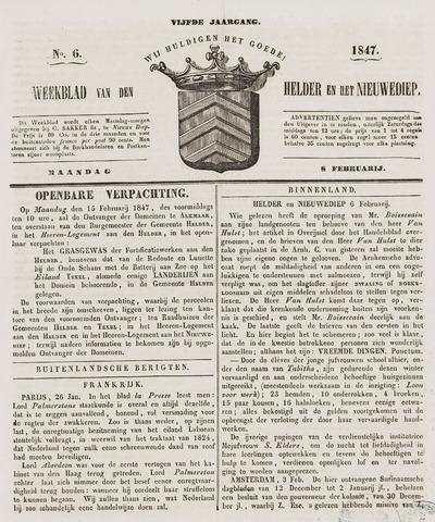 Weekblad van Den Helder en het Nieuwediep 1847-02-08