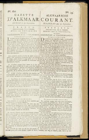 Alkmaarsche Courant 1811-09-30