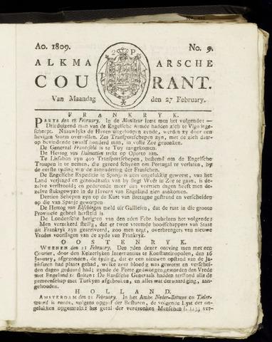Alkmaarsche Courant 1809-02-27