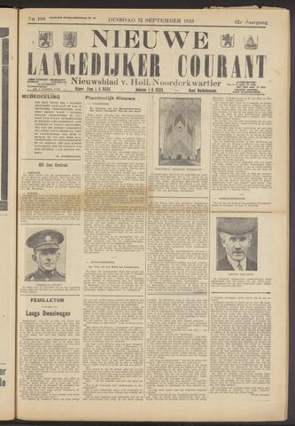 Nieuwe Langedijker Courant 1933-09-12