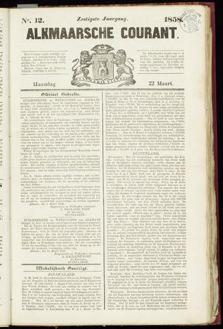 Alkmaarsche Courant 1858-03-22