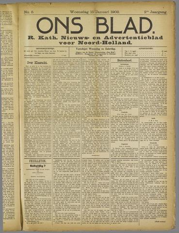 Ons Blad : katholiek nieuwsblad voor N-H 1908-01-15