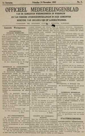 Mededeelingenblad Wieringermeer en Wieringen 1942-11-14