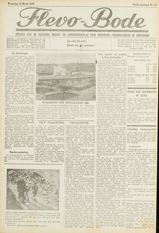 Flevo-bode: nieuwsblad voor Wieringen-Wieringermeer 1949-03-16