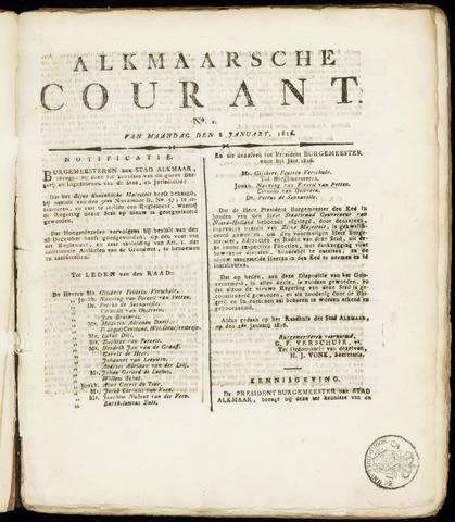 Alkmaarsche Courant 1816-01-08