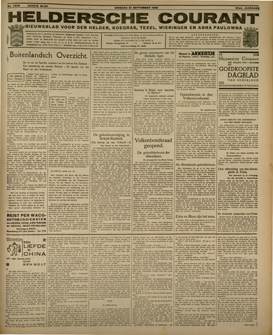 Heldersche Courant 1936-09-21