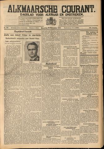 Alkmaarsche Courant 1934-11-26