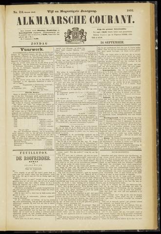 Alkmaarsche Courant 1893-09-24