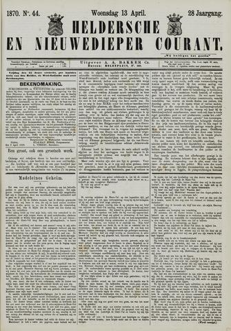 Heldersche en Nieuwedieper Courant 1870-04-13