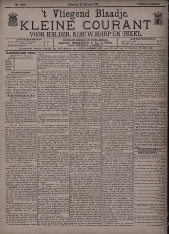 Vliegend blaadje : nieuws- en advertentiebode voor Den Helder 1887-01-15