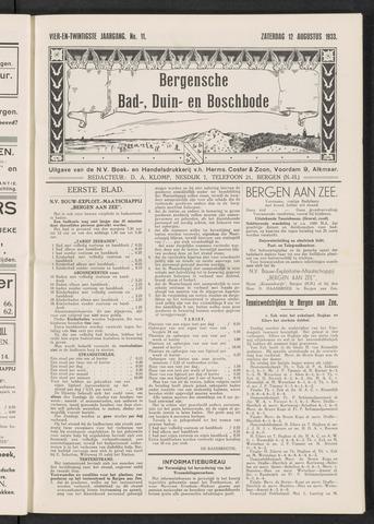 Bergensche bad-, duin- en boschbode 1933-08-12