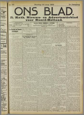 Ons Blad : katholiek nieuwsblad voor N-H 1913-08-26