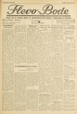 Flevo-bode: nieuwsblad voor Wieringen-Wieringermeer 1947-06-18